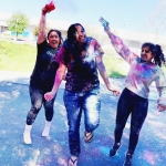 celebrating Holi the festival of color