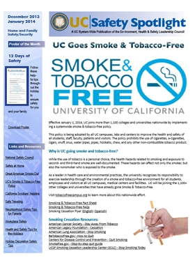 Jan 14 UC Goes Smoke & Tobacco Free