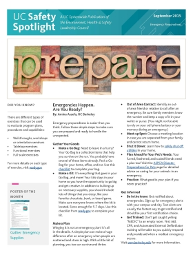 September 2015 - Emergency Preparedness