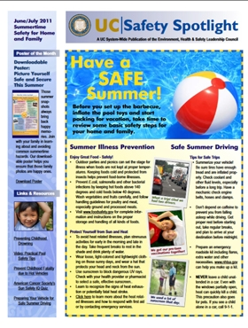 June 2011 - Summer Safety